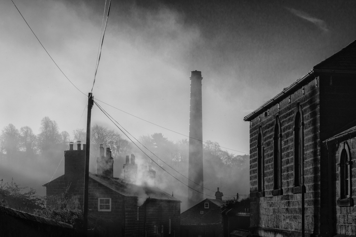 Milford - Chevin Road - February Morning 001 Black & White