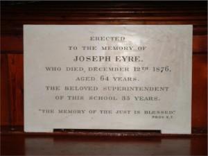 Joseph Eyre plaque