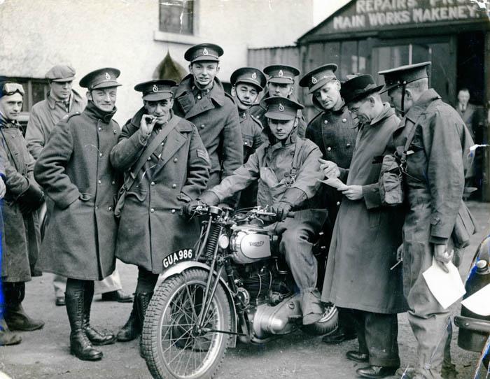 Motorbikes in Makeney